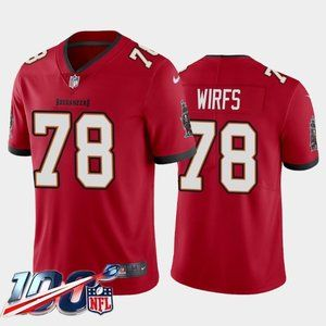 Tampa Bay Buccaneers Tristan Wirfs Red Jersey